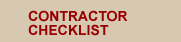 Typical Contractor Checklist